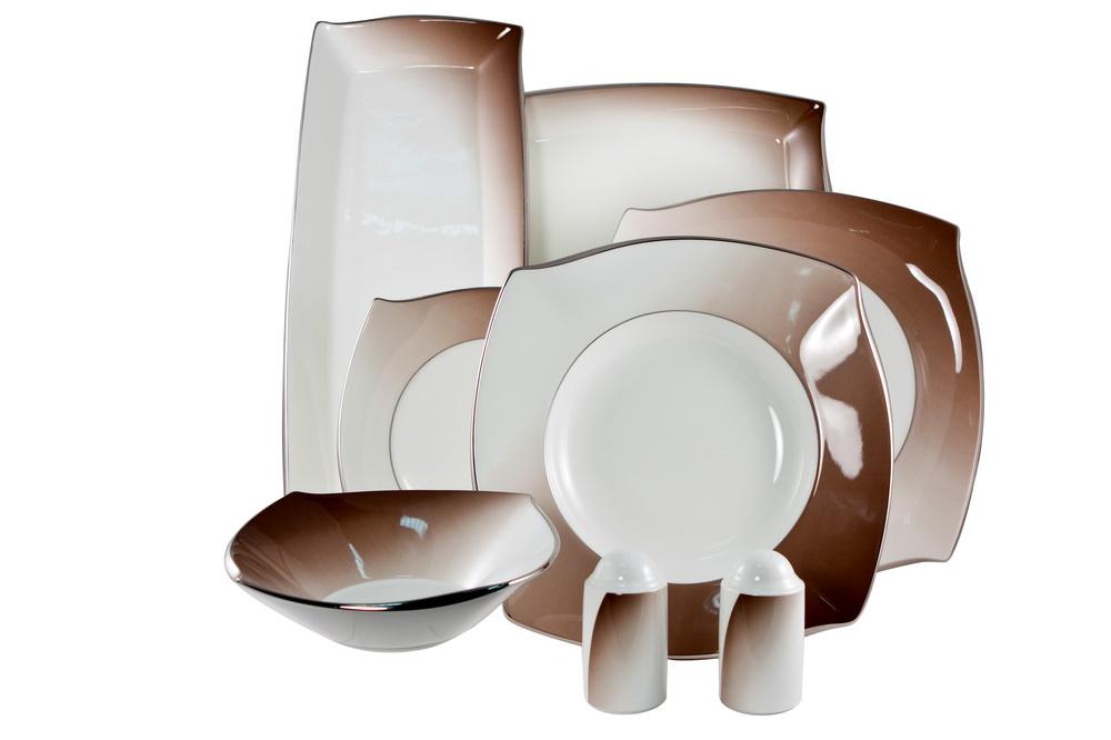 Сервиз столовый с квадратными тарелками купить